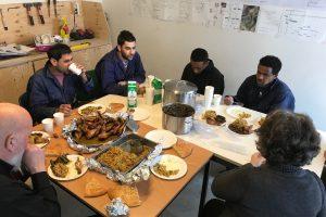 Syrische lunch op de bouw